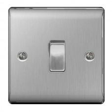 BG Nexus Brushed Steel Intermediate Light Switch - NBS13