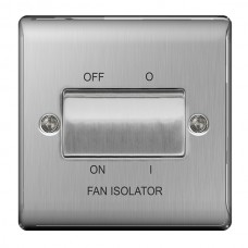 BG Nexus Brushed Steel Fan Isolator Switch TP - NBS15