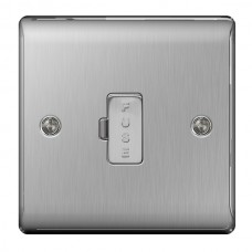 BG Nexus Brushed Steel Unswitched Spur - NBS54