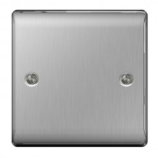 BG Nexus Brushed Steel Single Blanking Plate- NBS94