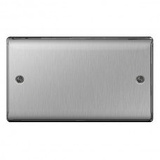 BG Nexus Brushed Steel Double Blanking Plate - NBS95