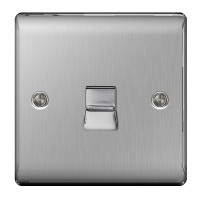 BG Nexus Brushed Steel Master Telephone Socket - NBSBTM1