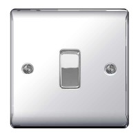 BG Nexus Polished Chrome Intermediate Light Switch - NPC13