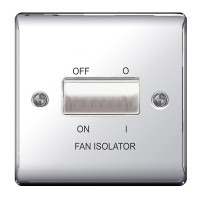 BG Nexus Polished Chrome Fan Isolator Switch TP - NPC15