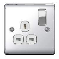 BG Nexus Polished Chrome Single Socket - NPC21W