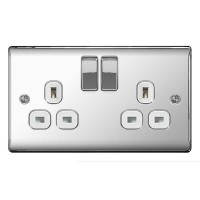 BG Nexus Polished Chrome Double Socket - NPC22W