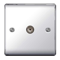 BG Nexus Polished Chrome TV Aerial Socket - NPC60