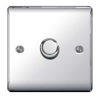 BG Nexus Polished Chrome Single Dimmer Switch - NPC81P
