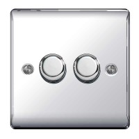 BG Nexus Polished Chrome Double Dimmer Switch - NPC82P