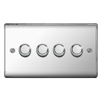 BG Nexus Polished Chrome Four Switch Dimmer - NPC84P
