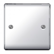 BG Nexus Polished Chrome Single Blanking Plate- NPC94