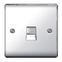 BG Nexus Polished Chrome Slave Telephone Socket - NPCBTS1