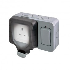 BG Nexus Storm Weatherproof Single Socket with External Switch - WP21ES
