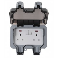 BG Nexus Storm Weatherproof Double Socket - WP22