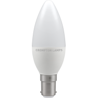 Crompton LED Thermal Plastic Candle 5.5W SBC-B15d