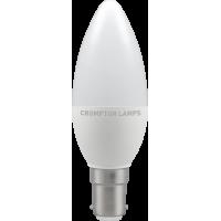 Crompton LED Thermal Plastic Candle 5.5W SBC-B15d