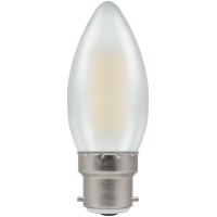 Crompton Filament Dimmable LED Candle 5W BC-B22d Pearl