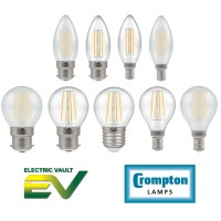 Crompton Filament Dimmable LED Candle & Round Lamps