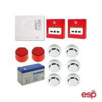ESP FLK2P 2 Zone Conventional Fire Alarm Kit