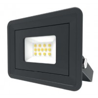 LED Basic Black Aluminium Floodlight 4000K 10w