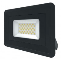 LED Basic Black Aluminium Floodlight 4000K 30w