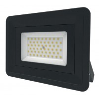 LED Basic Black Aluminium Floodlight 4000K 50w