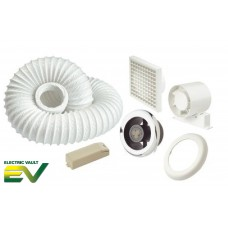Manrose In-Line Axial Showerlite LED Extractor Fan Kit with Timer