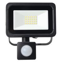 10W AC LED Floodlight with PIR Black IP65 4000k