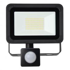 30W AC LED Floodlight with PIR Black IP65 4000K