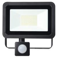 50W AC LED Floodlight with PIR Black IP65 4000K