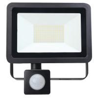 80W AC LED Floodlight with PIR Black IP65 4000K