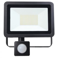 80W AC LED Floodlight with PIR Black IP65 4000K