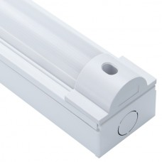 60W Twin Batten Strip Light 6ft White IP20 6000K