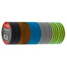 Unicrimp 1920MX01 Tape 19mmx20m Roll PVC 10 Pack