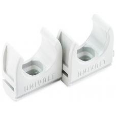 Univolt CL25WH Conduit Clip 25mm White