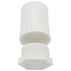 Univolt AFT/MBS20WH Female Thread Adaptor 20mm White