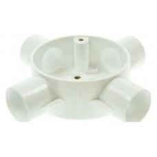 Univolt CB254WH 4 Way Circular Box 25mm White