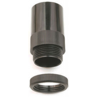 Univolt AMT/LR20BK Male Thread Adaptor 20mm Black