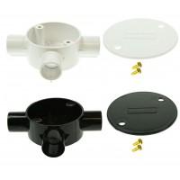 Univolt Tee Conduilt Junction Box 20mm Including Lid & Screws