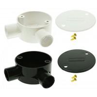 Univolt Angle Conduilt Junction Box 20mm Including Lid & Screws
