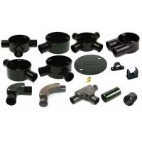 Black PVC Conduit & Accessories