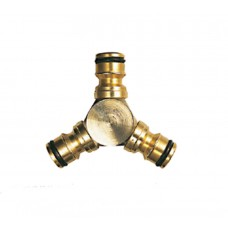 CK G7907Y Hose 3 Way Triple Connection 1/2 inch Brass