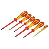 CK Dextro VDE 6 Piece Pozi Screwdriver Set