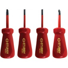 CK Stubby VDE Slim Screwdriver Set of 4