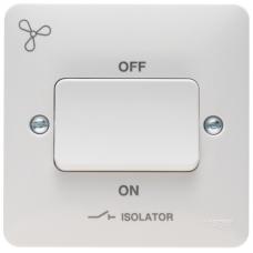 Hager Sollysta WMPS3PIF Plate Switch 1 Gang TP Fan Isolator