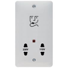 Hager Sollysta WMSO100 Shaver Socket 115/230V