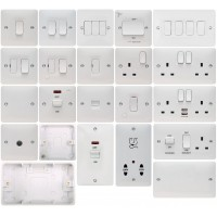 Hager Sollysta White Switches & Sockets