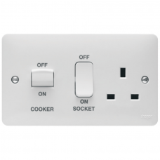Hager Sollysta WMCC50 Cooker Control Unit & Socket 45A