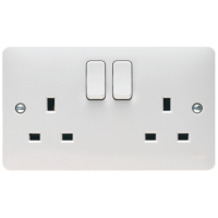 Hager Sollysta WMSS82 Switched Double Socket DP 13A