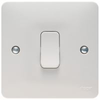 Hager Sollysta WMPS16 Plate Switch 1 Gang Intermediate 10AX